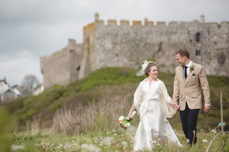 Tori and Rich at Manorbier Castle