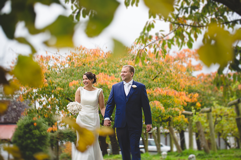 Rhonwen and Gerwyn's autumn wedding at Jabajak Vineyard